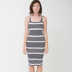Striped Ponte Tank Dress 🖤